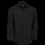 Mens Basic Shirt Long Sleeve Black