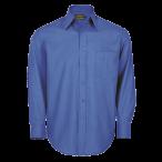 Mens Basic Shirt Long Sleeve French Blue
