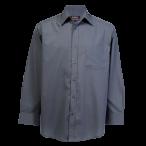 Mens Basic Shirt Long Sleeve Grey
