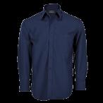 Mens Basic Shirt Long Sleeve Navy
