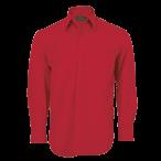 Mens Basic Shirt Long Sleeve Red