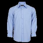 Mens Basic Shirt Long Sleeve Sky