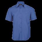 Mens Basic Short Sleeve Shirt French Blue