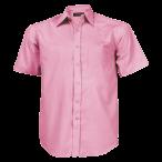 Mens Basic Short Sleeve Shirt Pink