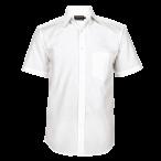 Mens Basic Short Sleeve Shirt White