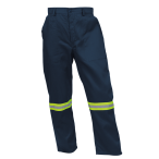 Poly Cotton Conti with Reflective - Navy Pants